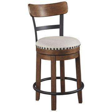 Valebeck Upholstered Swivel Barstool - Signature Design by Ashley
