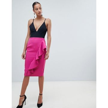 Vesper pencil skirt with asymmetric frill