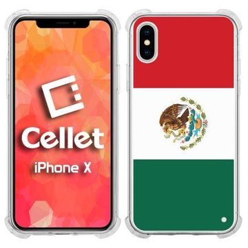 Cellet TPU / PC Proguard Case with Mexico Flag for Apple iPhone Xs & X