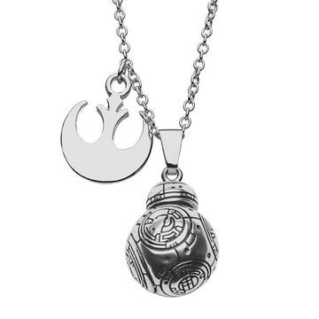 Star Wars BB-8 Rebel Charm Pendant Necklace