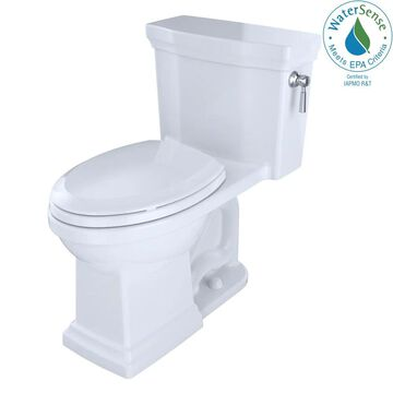 TOTO Promenade II Cotton White Elongated Chair HeightWaterSense Toilet 12-in Rough-In Size (Ada Compliant)   MS814224CUFRG-01