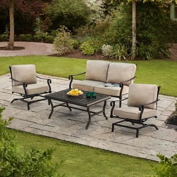 Sunjoy Cozine 4-piece Conversation Set