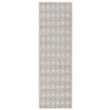 Lumen Indoor/Outdoor Runner Rug by Jaipur - Color: Grey (RUG142885)