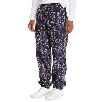 Men's Pop Print Nylon Athletic Pants