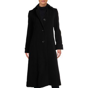 Jones New York Womens Petites Winter Wool Maxi Coat