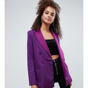 Bershka blazer in purple