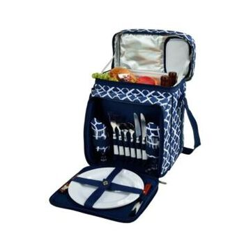 Picnic at Ascot Insulated Picnic Basket, Cooler Equipped with Service for 2