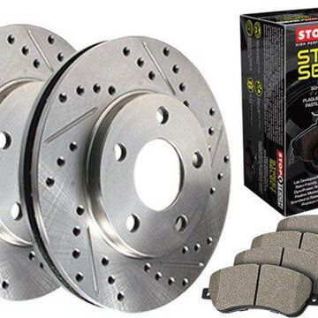 2008 BMW 5-Series StopTech Select Sport Brake Kits, Select Sport Drilled & Slotted Brake Kit - Front
