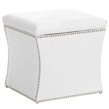 Skyline Furniture Upholstered Ottoman in White
