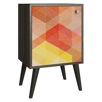 Accentuations By Manhattan Comfort Funky Avesta Side Table 1.0