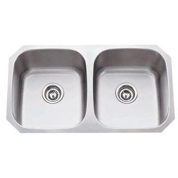 Hardware Resources Stainless Steel (18 Gauge) Kitchen Sink w/ Two Equa