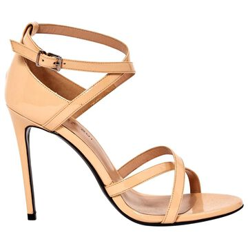 Barbara Bui Beige Patent leather Sandals