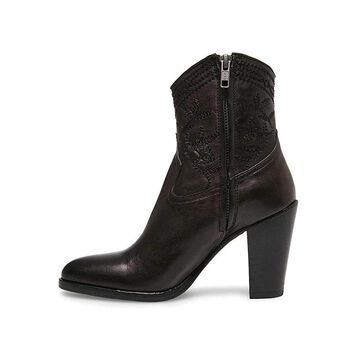 Steven by Steve Madden Womens Rockin Leather Almond Toe Ankle Fashion Boots