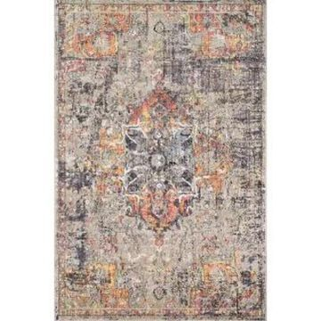 Alexander Home Athens Boho Abstract Distressed Sunset Area Rug
