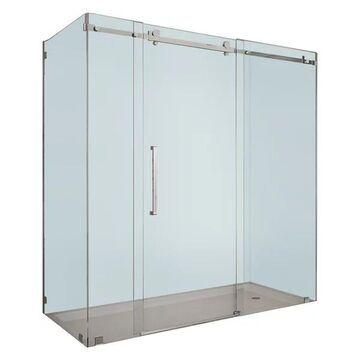 Aston Moselle Frameless Sliding Shower Enclosure, Chrome, 72