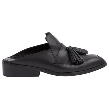 Robert Clergerie Black Leather Flats