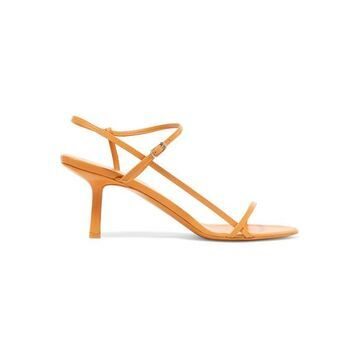 The Row - Bare Leather Sandals - Mustard
