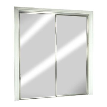 ReliaBilt Reliabilt Mirror Sliding Closet Door Hardware Included (Common: 48-in x 80-in; Actual: 48-in x 78-in)