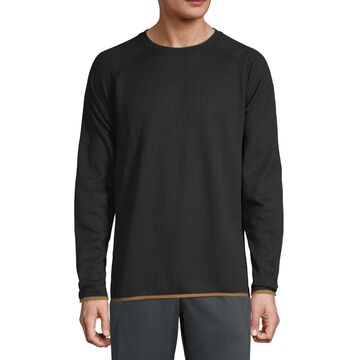 Xersion Mens Outdoor Long Sleeve Waffle Crewneck