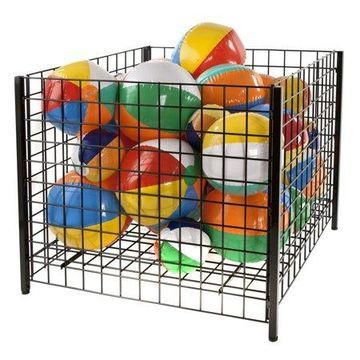 Econoco Grid Dump Bin with Levelers, Square, 36