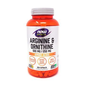 Arginine & Ornithine 500/250 mg by Now Foods 250 Capsules