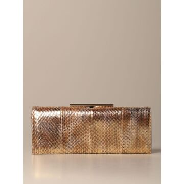 Rodo Clutch Rodo Clutch Bag In Leather With Laminated Elaphe Print