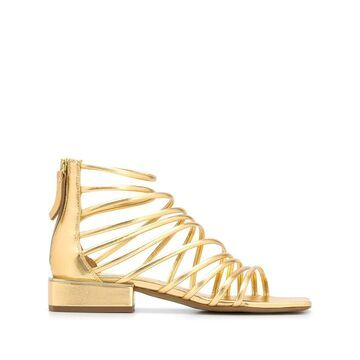 metallic 30mm sandals