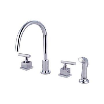 Kingston Brass Claremont Kitchen Faucets, Polished Chrome