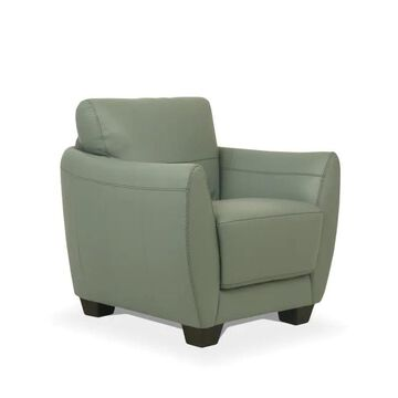 ACME FURNITURE Valeria Modern Watery Leather Accent Chair in Green   54952