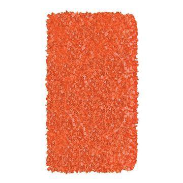 The Rug Market Shaggy Raggy 3 x 5 Shag Tangerine Solid Oriental Area Rug in Orange   02218B