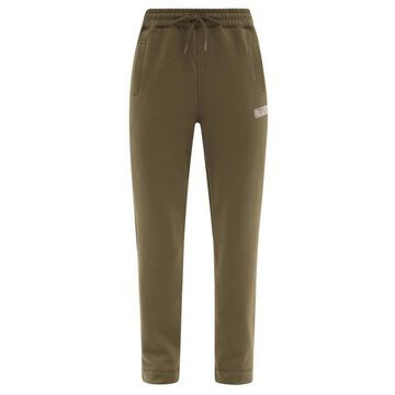 Ganni - Software Recycled Cotton-blend Track Pants - Womens - Olive Green