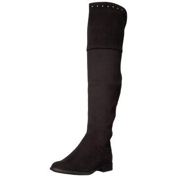 Xoxo Womens Travis Fabric Almond Toe Knee High Fashion Boots