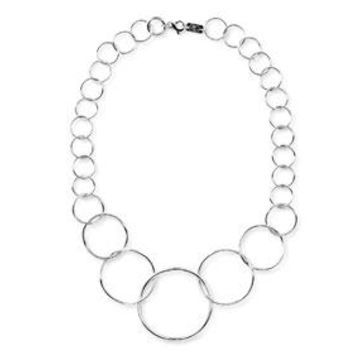 925 Classico Graduated Wavy Circles Necklace
