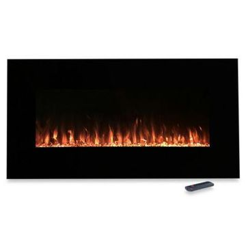 Northwest 42-Inch Fire and Ice Electric Fireplace Heater in Black