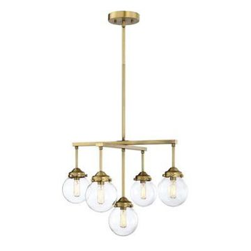 Filament Design 5-Light Chandelier in Brass