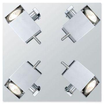 Eglo USA Manao 4-Light Semi-Flush Mount Ceiling Fixture in Chrome