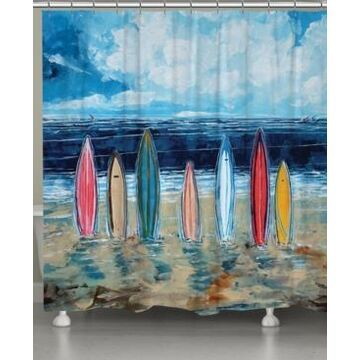 Laural Home Surfboards Shower Curtain Bedding