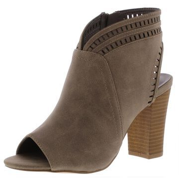 XOXO Womens Brie Nubuck Peep Toe Booties