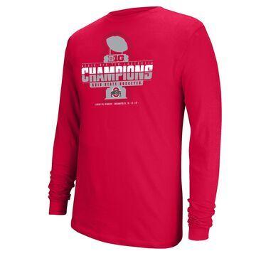 Men's Top of the World Scarlet Ohio State Buckeyes 2019 Big Ten Football Champions Locker Room Long Sleeve T-Shirt