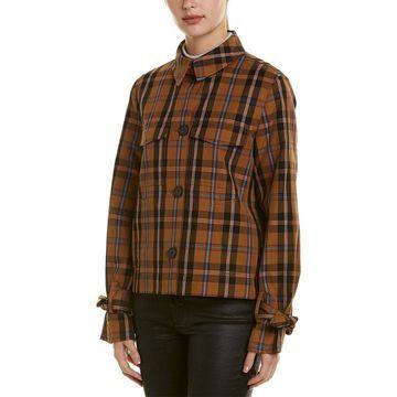 Derek Lam 10 Crosby Womens Plaid Jacket