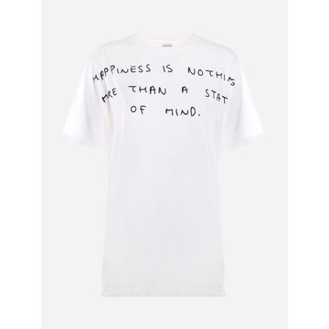Loewe Cotton T-shirt With Contrasting Print