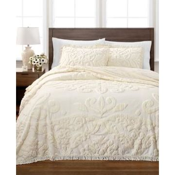 Martha Stewart Collection Chenille Medallion Twin Bedspread, Created for Macy's