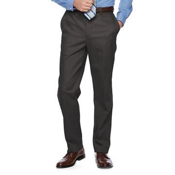 Men's Croft & Barrow Classic-Fit Flat-Front No-Iron Stretch Khaki Pants, Size: 33X30, Light Grey