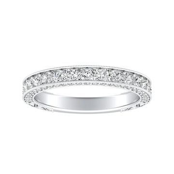 Auriya Vintage Inspired 3/4ctw Diamond Wedding Band Platinum