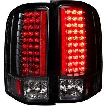 ANZO USA 311081 07-13 SILVERADO LED TAIL LIGHTS BLACK