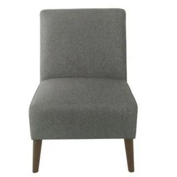 HomePop Modern Armless Dining Accent Chair (Gray Woven)