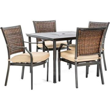 Hanover Mercer Outdoor Patio Dining Set, 5 Piece, Multiple Colors
