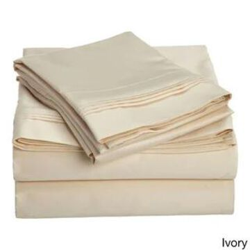 Superior Egyptian Cotton 1500 Thread Count Solid Bed Sheet Set (California King - Ivory)