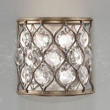 Feiss Lucia Wall Sconce in Burnished Silver