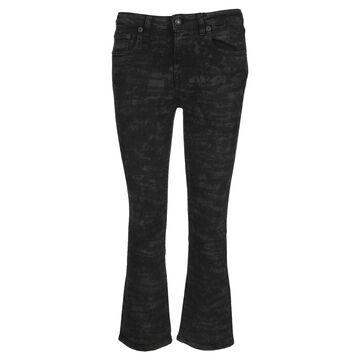 R13 Kick Fit Zebra Print Bootcut Jeans